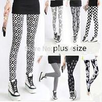 Hot Sale 2014 New Fashion Geometric Fitless Legging Women Sexy Low Treey Leggings KD-072