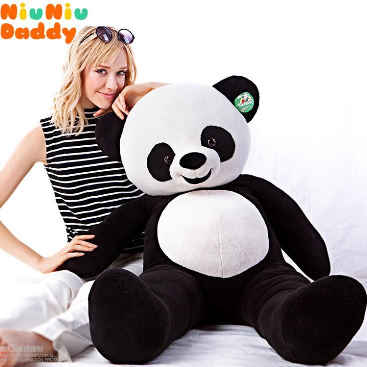 Niuniu Daddy Semi-finished Bearskin 120CM Classic toys frozen Panda plush toys for children(China (Mainland))