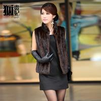 new 2014 free shipping  Artificial fur vest fashion fur vest   Imitated mink fur coat