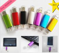 AU60 Metal pendrive Phone memory Stick USB flash drive pen drives Real 4GB 8GB 16GB 32GB /blue/pink/black/yellow