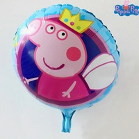 Classsic Toy Peppa Pig Pepa Carton Anime Ballons Birthday Decoration Best Gift For Children Birthday Party wholesale 50pcs