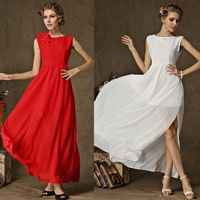 2014 slim dress to shoulder flower side slit sexy swing dress