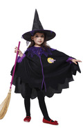 2014  Kids Clothes Sets Children Outerwear Girls And Boys Witch Sets Halloween Gifts Hat Suits  Christmas Party Costume