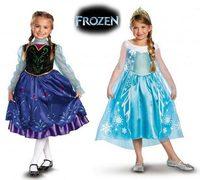 New 2014 girl frozen dress, vestidos de menina, anna elsa summer dress baby girls kids dress 2014 Free Shipping