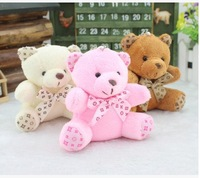 20pcs/lot free shipping Fashion 10cm Sitting tie bear Bear Pendant children toy  key pendant party gift wholesale