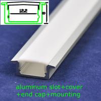 30pcs/lot,DHL/EMS, 12.2*8mm led rigid bar light SMD 5050/5630/2835/7020 waterproof led aluminum slot with frost cover,1m length
