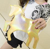 2014 NEWLY SVT Exclusive!!!GOLD Color Fashion Unicorn Women's Handbag Clutch 5 colors choice