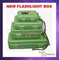 LED Flashlight Gift Box Retail Box Case 4-Size Choose for CREE XML T6 Q5 U2 Diving LED Flashlight Torch Bicyle Light