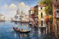 handmade  impressionist venice oil painting on canvans fine art painting  VEN1067 60x90cm