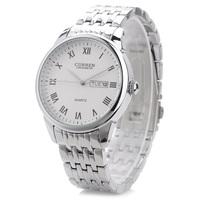 CURREN 8086 Quartz Fashion Stainless Water Resistant Analog Leisure Men's Wrist Watch with Spanish Calendar