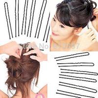 1000PCS  Hair Pins Large 50mm Open U-shaped Design Hair Pin Clip Hair Grips Black