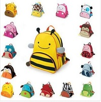 Hot Sale Cute Cartoon Baby Bag Children's Fashion Backpacks Cute Kids Lunch Backpack Eagle Monkey Zoo Animal Canvas School bag