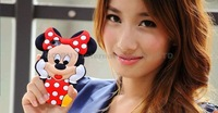 New Arrival Lovely Cute Cartoon Mickey Mouse Minnie 3D Soft Rubber Silicone Cover Case for iPhone 5 5S 4 4S