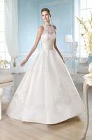 Hot sale White/ivory  sleeveless  wedding dress Bridal gown Custom Size A-79