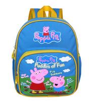 New 2014 Peppa Pig Bag Children School Bags Printing Cartoon Schoolbag Baby Kids Backpack For Boys Peppa Mochila Pink Bags bule