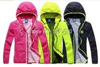 Spring 2014 new Fashion Women and Men outdoor brand Sportswear Hoodie Jacket for woman Windbreaker Zipper Coats Plus Size