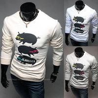 2014 new autumn pig man long sleeve T-shirt printing character