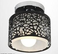 5Watt Unique Outcuts Gold White Black 3 Colors Acrylic Chandelier, Round Shape Home Lamps Aisle Balcony Living Room Lighting