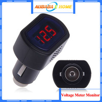 Free Shipping Digital LED Car Truck System Battery Voltmeter Voltage Gauge Volt Meter 12V 24V