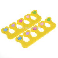 Free Shipping Soft Sponge Toe Separator Soft Foam Nail Tools, 8pcs (4 pairs)  Toes Hammer Sub-toe Toe Separator Nail Art Tools