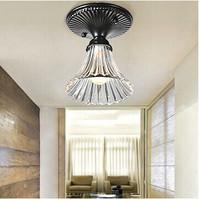 Single Light 5Watt Trempet Flower Glass Crystal Chandelier, AC220V&110V Aisle Indoor  Balconey Home Lighting White warm white