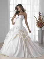 2014 Hot sale White/ivory  sleeveless wedding dress Bridal gown Custom Size A-1128