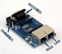 2pcs/ lot, uart-WIFI module, serial WIFI, SCM WIFI, HLK-RM04 simplify the test board