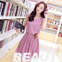 Hot Sale Good Quality 2014 Summer New Fashion Women Casual Cotton Dress Girl Cute Linen Dress Vestidos Plus Size Free Shipping