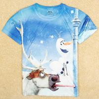 2014 Sale Special Offer Freeshipping Cotton Boys Peppa Atacado Roupas Infantil Nova Kids Frozen Boy Sleeve T-shirt C5246y#