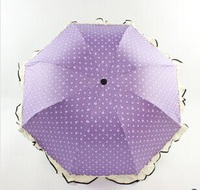 Free shipping 2014 Princess Clear vinyl skirts creative folding umbrella sun umbrellas