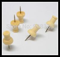 Creative woodiness pushpin wood drawing Tacks Map push pin Thumbtacks office and school Stationery supplies 200pcs B1-008