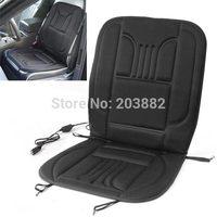 New 12v Car Van Auto Heated Padded Pad Hot Seat Cushion Cover Warmer Winter Black Universal