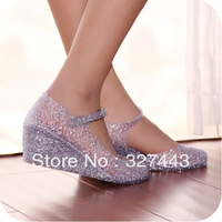 Fashion Jelly Sandals Women's Sandals 2013 Summer Fashion Slippers Women Shoes Summer Flower Cutout sandals Free Shipping