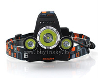 3T6 Headlamp 6000 Lumens 3 x Cree XM-L T6 Head Lamp High Power LED Headlamp Head Torch Lamp Flashlight Head