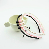 wholesale Korean Style Princess pearl with rhinestone Hairbands kids Girl pearl Headbands children Hair Accessories hair jewelry