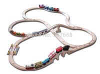 5set (39pcs/ set) DIY thomas train track tracks orbit trains compatible wooden set track hot sale