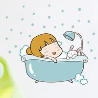 Wall stickers bubble bath cartoon wall stickers child baby3245776
