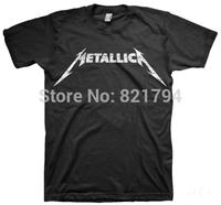Metallica - Logo MEN T-SHIRT 100% Cotton O-neck Short Sleeve 16 Colors Available Accept Customized Logo Free Shipping