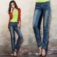 Hot Sale!!!2014 New Winter Fashion Fashion Woman Lift The Hips Pencil Jeans Pants Slim pencil jeans