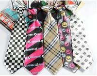 27 designs free shipping baby kids children ties neck tie ties Boys Girls tie 5pcs/lot silk print neckties Colors can choose