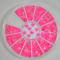 4mm New Glitter 3D Nail Art Rhinestones Acrylic Shining Flatback Nail Art Salon Decorations for Nails DIY Nail Tools #NA103