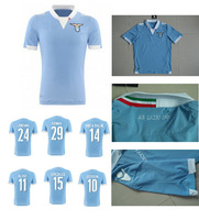 A+++ HOT 2014 SS Lazio Home Soccer Jerseys blue Men Thailand Quality Soccer Shirts 14/15 Cheap Men Soccer Jersey Uniforms Camisa