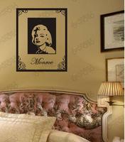 2014 Freeshipping Marilyn Monroe love pattern Ka To TV Background Wallpaper Fashion Thick Waterproof PVC Self-adhesive Two size