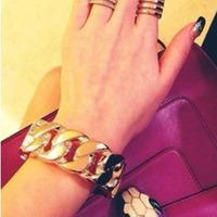 European and American fashion new L coarse Bracelet All-match Bracelet Luxury high-grade Bracelet  Free S