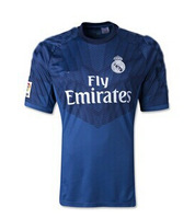 The new men's blue jersey 14-15 Real Madrid, Thailand quality original embroidery logo, free shipping