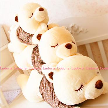 Plush toys large doll sleep bear teddy bear hug bear pillow lovely creative valentine's day gift 90cm(China (Mainland))