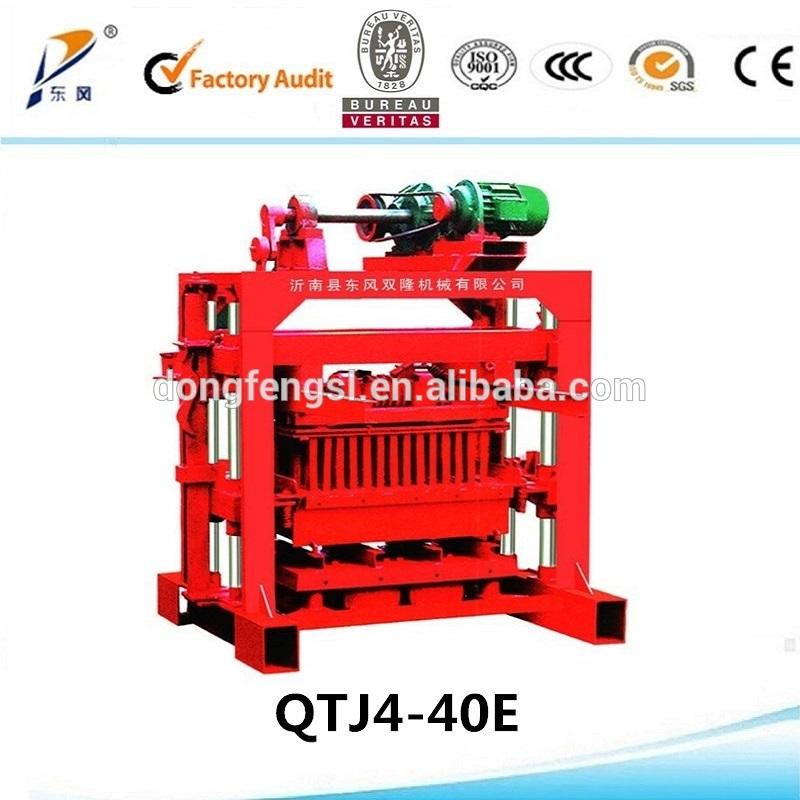 QTJ4-40 manual fly ash brick making