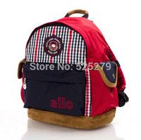 2014 New Hot  plush kids backpack plaid children school bags for kindergarten boys mochila infantil