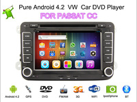 2014 New Fashion Pure Android 4.2 Car DVD For Volkswagen VW PASSAT B6 CC JETTA  GOLF With WIFI GPS Car Rear View  Camera