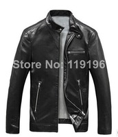 Free shipping 2014 New arrivals hot sell fashion men jacket genuine leather sheepskin fur vest fashion design overcoat